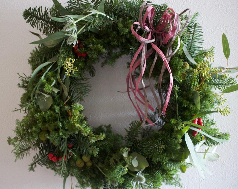 doux jardinクリスマスリースレッスン